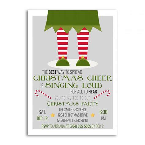 christmas invitations christmas invitation elf christmas
