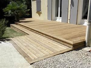 Plancher Pin Pas Cher : plancher pour terrasse perfect poser une plage de piscine en bois composite with plancher pour ~ Melissatoandfro.com Idées de Décoration