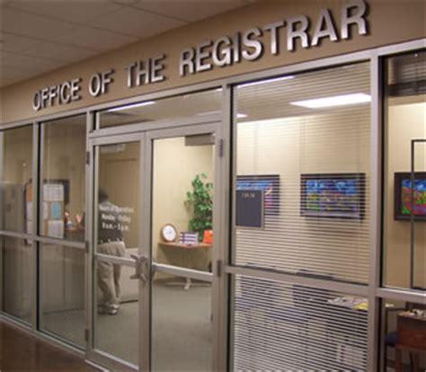 Office Of The Registrar office of the registrar