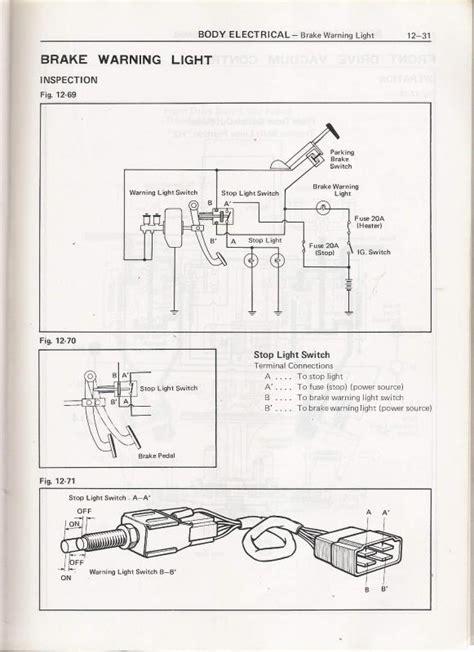 Brake Warning Light Switch Diagram by Testing Brake Light Switch Ih8mud Forum