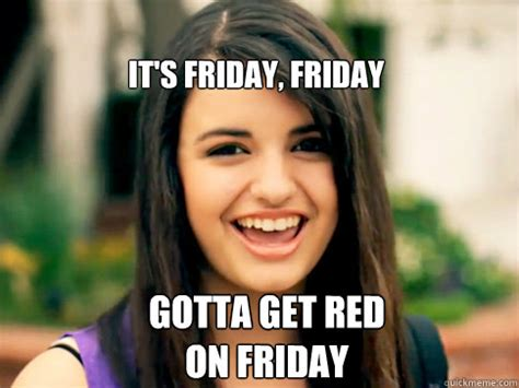 Rebecca Black Friday Meme - gotta make my mind up which carbon should i break days of the week with rebecca black quickmeme