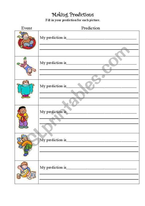 Making Predictions  Esl Worksheet By Bcesl1st