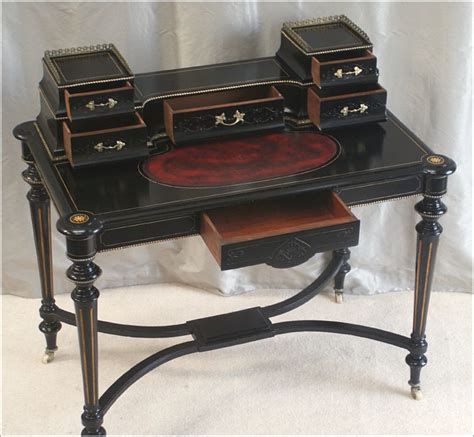 antique victorian ebonised writing table ref 3022 for sale