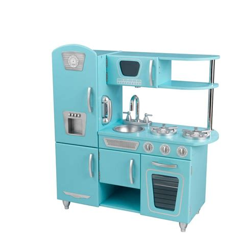 kidkraft cuisine vintage kidkraft blue vintage kitchen play set 53227 the home depot