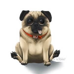 Derpy Pug Drawing