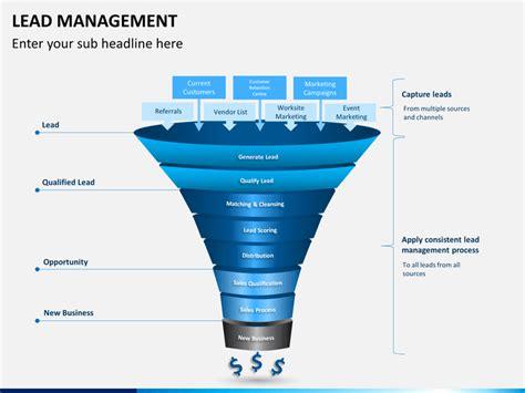 lead management powerpoint template sketchbubble