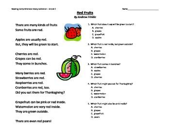 primary grades   reading comprehension story pack