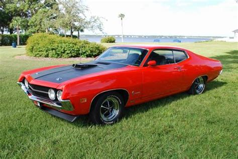 1970 ford torino cobra 429 ram air 4 speed calypso coral magazine car american muscle cars