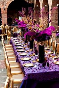 Purple & Gold Wedding Decor 2 Decorating, Centerpieces
