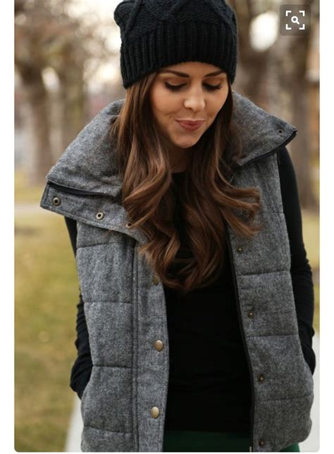 Coat Vest Winter Outfits Fall Outfits Cold Jacket