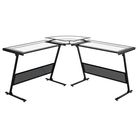 z line designs delano l shaped glass computer desk black