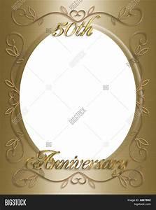 50th wedding invitation card frame image photo bigstock With wedding invitation cards photo frame