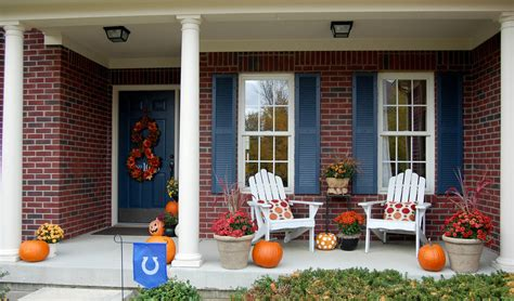 fall front porch ideas fall decorating around blogger s houses the inspired room