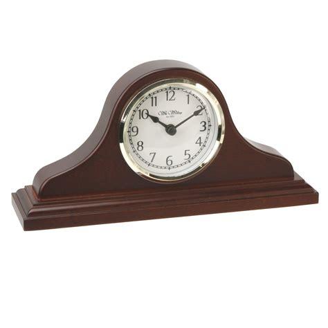 wood mantel clocks wm widdop napoleon birch wood mantel clock with arabic dial