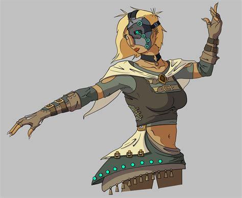Cyborg Mage/cleric By Rowanthepanda On