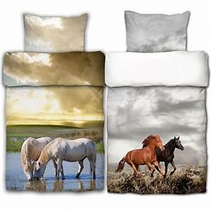 Pferde Bettwäsche Baumwolle : bettw sche 2tlg pferde 100 baumwolle pferd garnitur bett w sche bettdecke ebay ~ Markanthonyermac.com Haus und Dekorationen