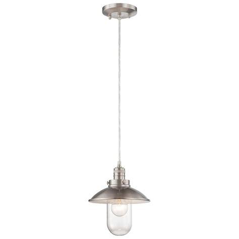 pendant lighting for kitchens minka lavery downtown edison brushed nickel mini pendant 4130