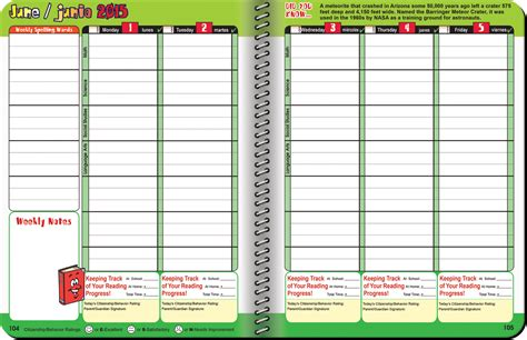 planners for college students elementary homework agenda