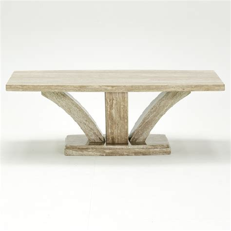 Colton Marble Coffee Table Rectangular In Cream 30294