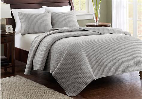 Grey King Coverlet by Keaton Gray 3 Pc King Coverlet Set Bed Linens Gray