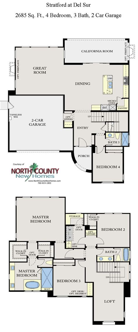 new homes floor plans stratford at del sur floor plans new homes in san diego north county new homes