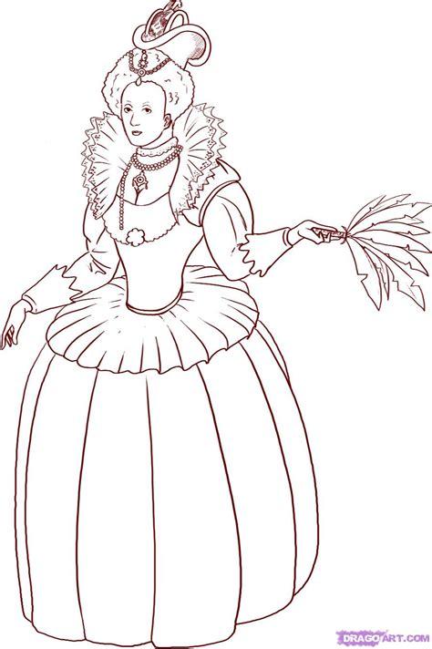 queen clipart elizabeth   pencil   color