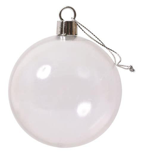 clear plastic bauble cap unscrews so can be decorated