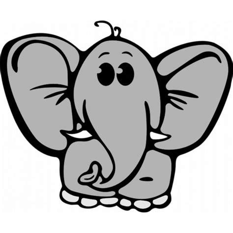 disegni colorati disegno di elefantino a colori per bambini
