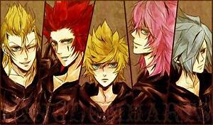 Demyx, Axel, Roxas, Marluxia and Zexion. Fan art. Kingdom ...