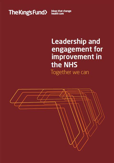 leadership  engagement  improvement   nhs