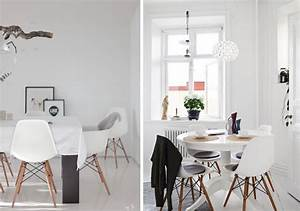 la chaise dsw eames et ses declinaisons joli place With deco cuisine avec table chaise design
