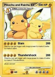Pokémon Pikachu and Raichu EX - Slam - My Pokemon Card