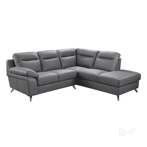 l shaped leather sofa nuvola italian inspired slate grey leather corner sofa l