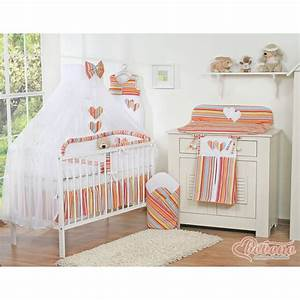 Parure De Lit Enfant : parure de lit deux c urs orange linge de lit b b ~ Teatrodelosmanantiales.com Idées de Décoration