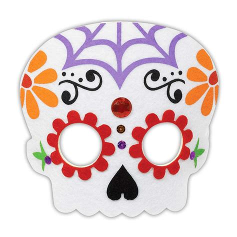 day   dead sugar skull coco felt face mask costume