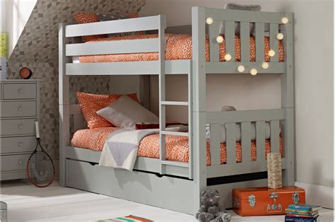 jubilee bunk bed  soft grey  trundle