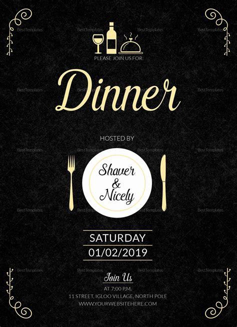 Beautiful Dinner Invitation Template Word in 2020 Dinner