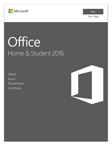 amazoncom microsoft office home and student 2016 for mac