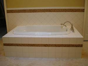 Garden tub with 6x6 inch ceramic tile with 5 8 inch stone for 6 inch bathroom tiles