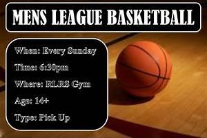 Men's League Pick Up Basketball - October 30, 2016