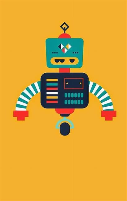 Robot Clipart Robots Clip Drawings Orange Carson