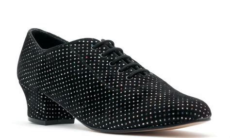 Ladies Line Dance Classic Black Silver Hologram Ballroom