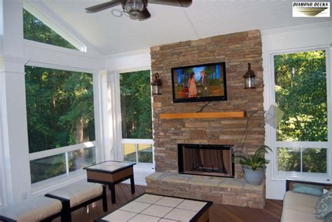 screened porch with fireplace screened porch fireplace installation maryland outdoor