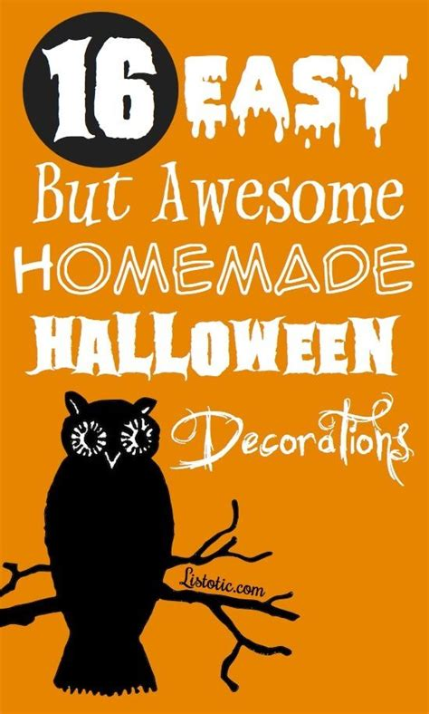 16 Easy But Awesome Homemade Halloween Decorations (with