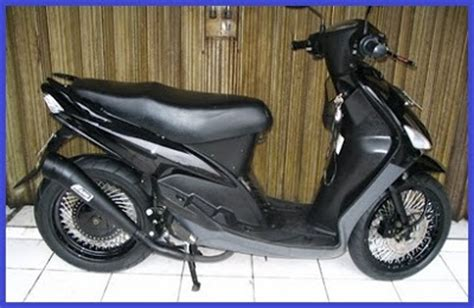 Modifikasi Mio Sporty Hitam by Modifikasi Mio Sporty Warna Hitam Modifikasi Motor
