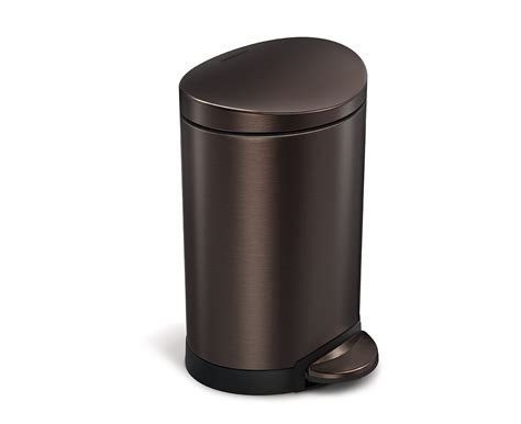 Bronze Bathroom Trash Can With Lid by Simplehuman 6l Semi Bronze Stainless Steel