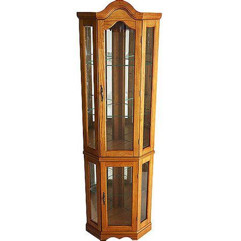 small curio cabinets walmart corner lighted curio cabinet golden oak walmart com