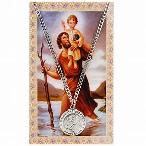Saint Christophe Patron : st christopher patron saint prayer card w medal the catholic company ~ Medecine-chirurgie-esthetiques.com Avis de Voitures