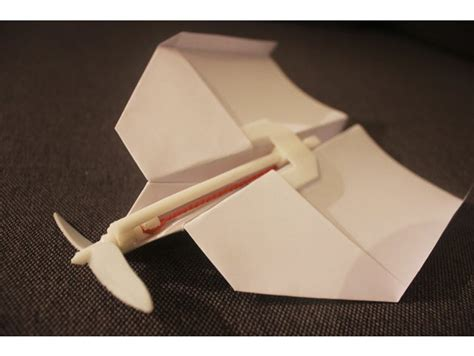 paper airplane rubberband motor  viralvideolab thingiverse