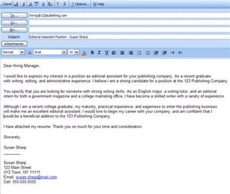 Email Text For Sending Resume by 6 Easy Steps For Emailing A Resume And Cover Letter